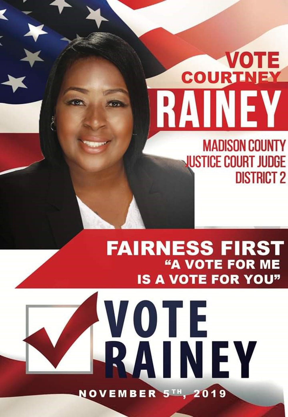 Courtney Rainey faces multiple counts of voter fraud. (Source: Facebook)