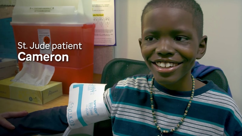 St. Jude patient Cameron