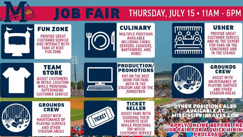 M-Braves staff members will conduct open interviews on a first-come, first-serve basis for...