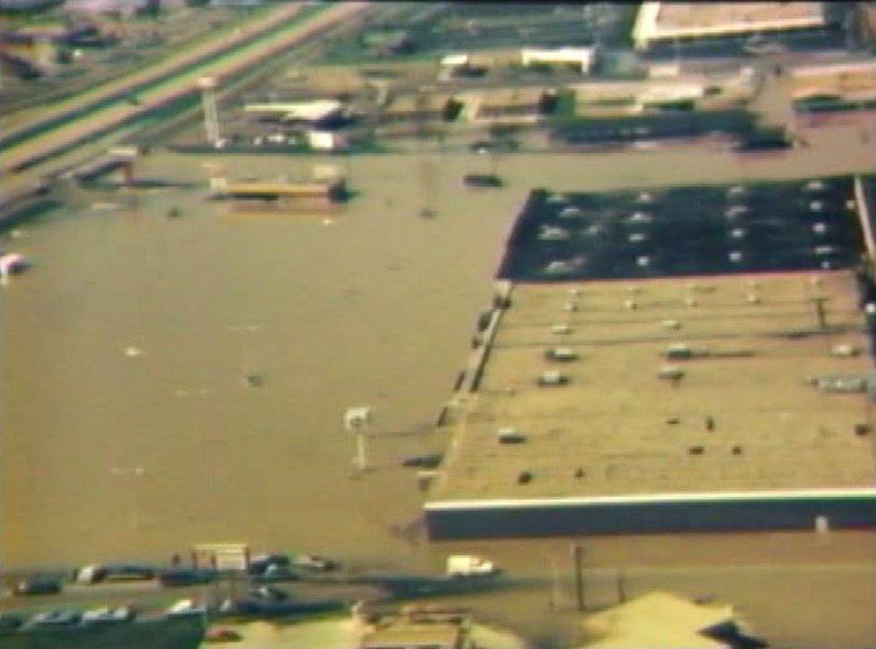 Kroger/Howard's/Wendy's on I-55 in Jackson during the Easter Flood of 1979 (Source: WLBT)