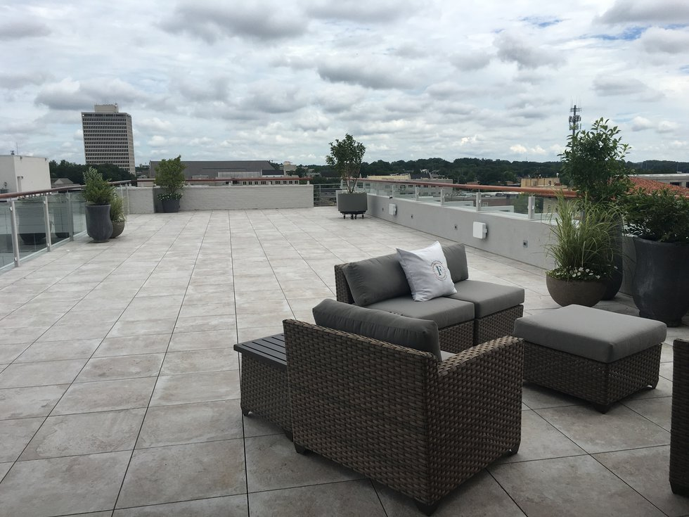 The Rooftop is a signature feature of the The Faulkner with room for entertainment and a view...