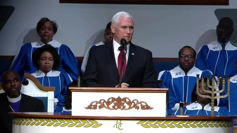 Vice President Pence speaks at Memphis church
