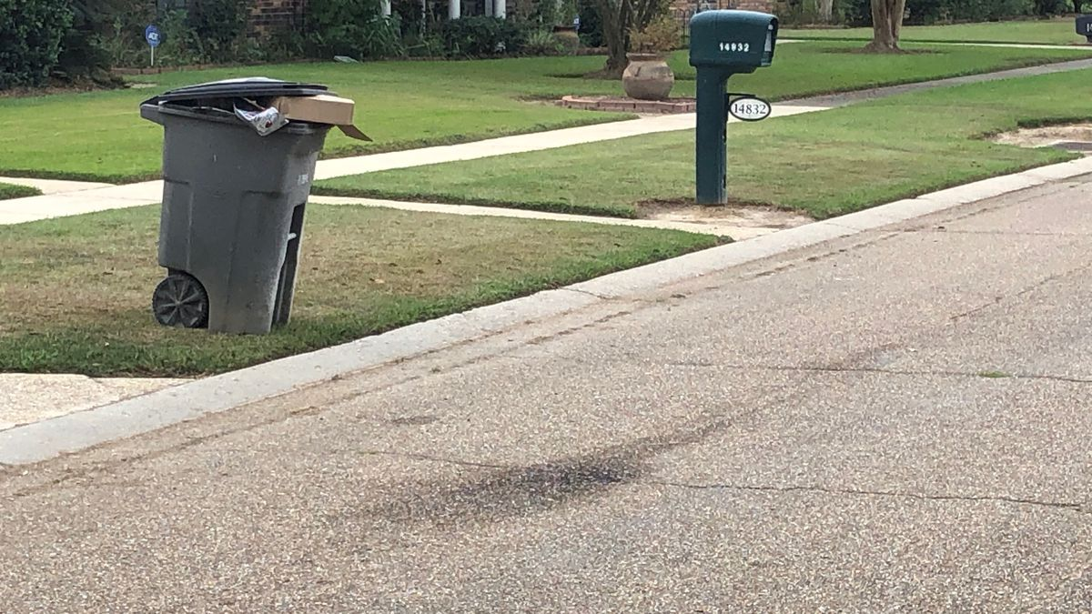 Recycling bins line the streets of the Biltmore neighborhood after residents say Republic...
