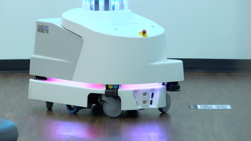 Ultraviolet robots are helping keep things sanitized.