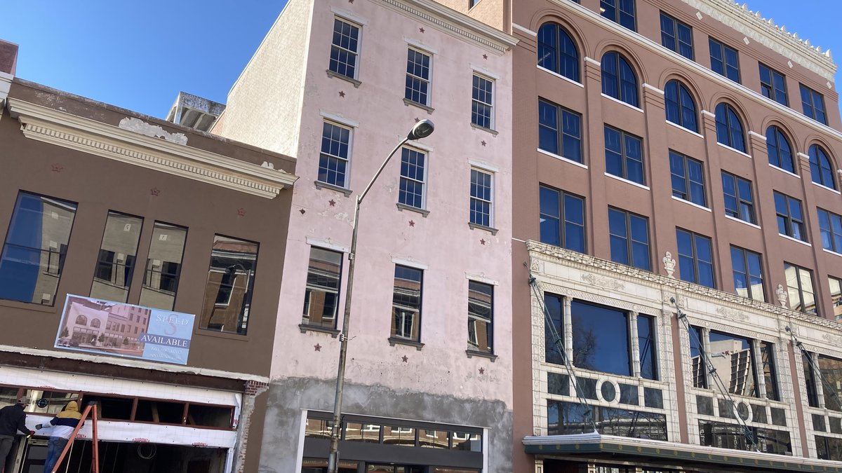 Major renovations are underway on the Heritage Building in downtown Jackson. Plans are to...