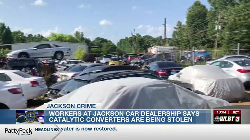 Jackson dealership says thieves have stolen catalytic converters from over 40 cars on their lot