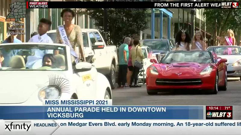Miss Mississippi Parade held in downtown Vicksburg
