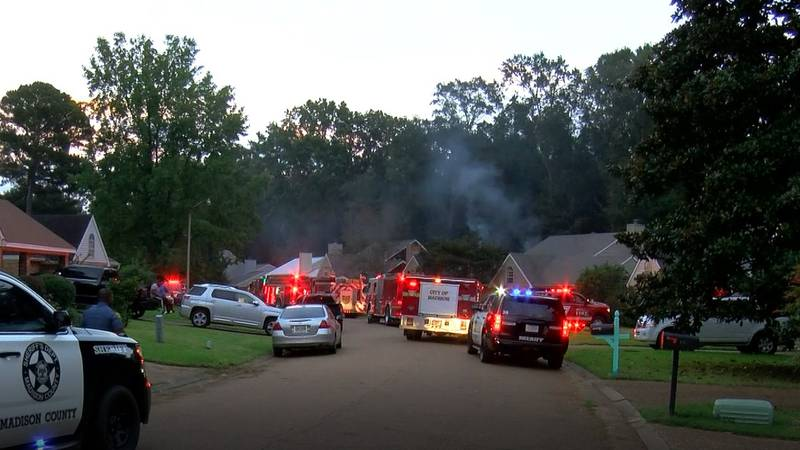 Firefighters are on the scene after three houses caught on fire in a Madison subdivision...