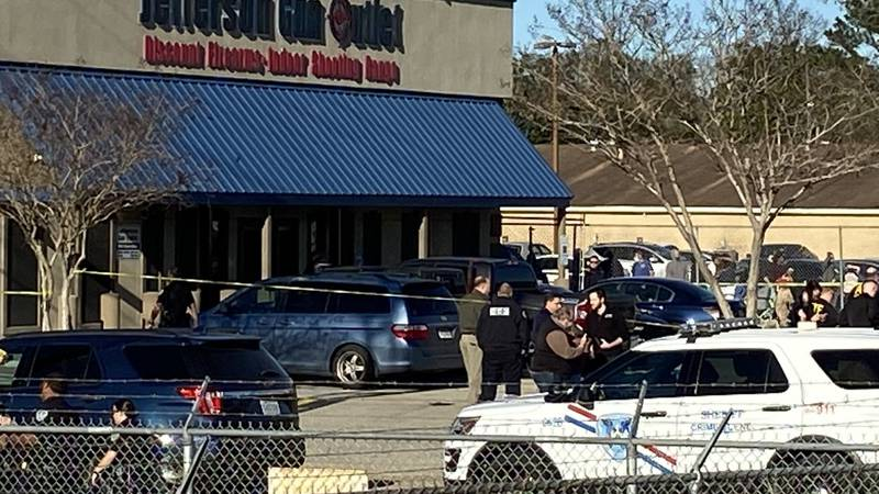Multiple people are dead after someone opened fire at at the Jefferson Gun Outlet in the 6900...