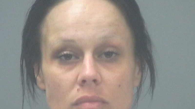 Ashley Perkins, 30, is accused of beating her wife with a bedpost over missing marijuana.