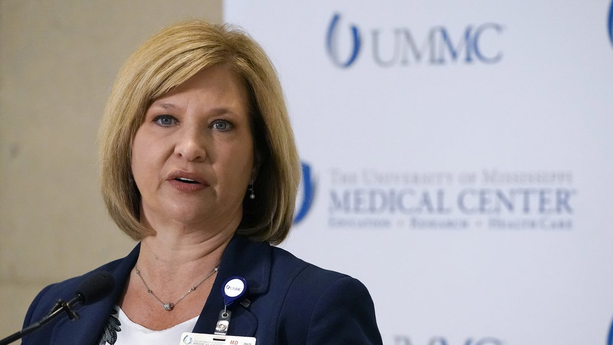 Dr. LouAnn Woodward, vice chancellor for health affairs and dean of the School of Medicine at...
