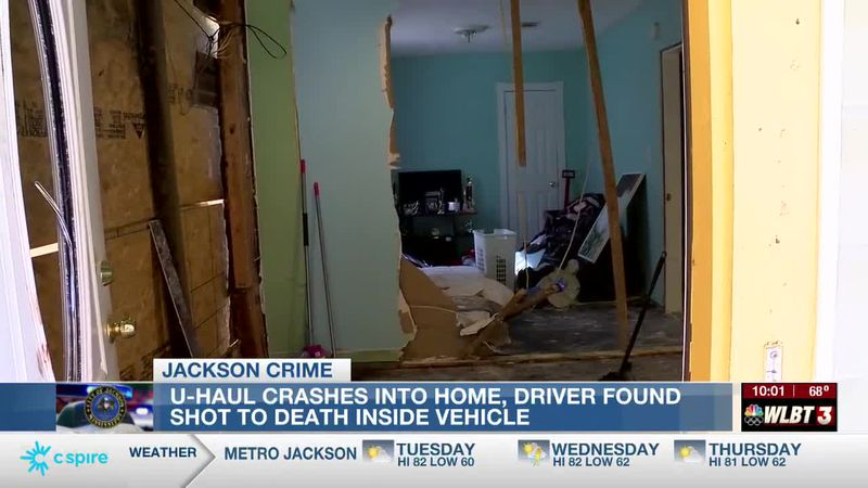Homeowners shocked after U-Haul crashes into their home with driver dead inside