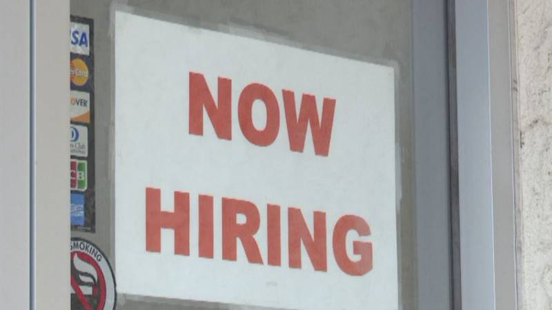 'Now Hiring' signs can be seen all over the Tri-Cities.