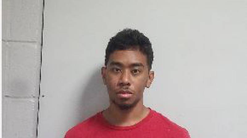 Marcus Tyrone Geddis, 25, was arrested on a charge of false reporting of a bomb by Biloxi police.