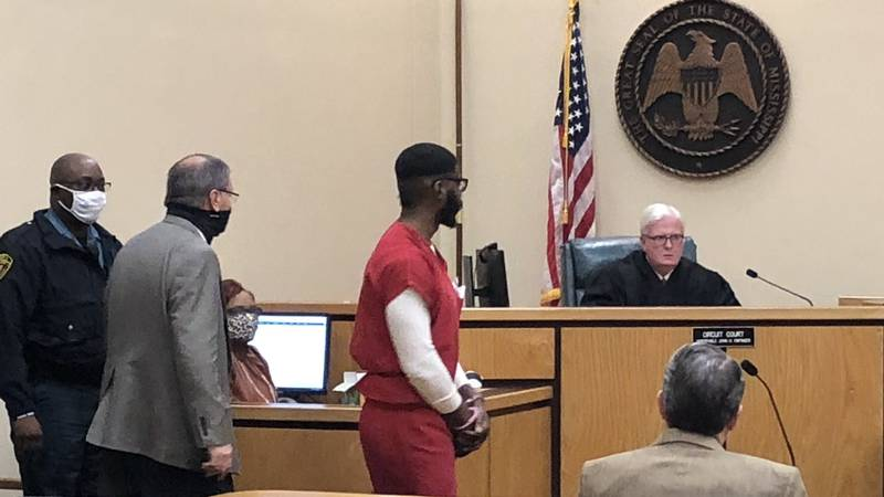 Zebulum James appears in court.