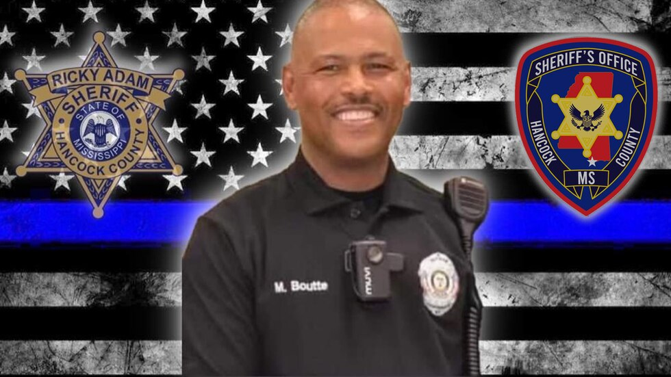 Lt. Michael Boutte of the Hancock County Sheriff's Department was shot and killed Feb. 1, 2021...