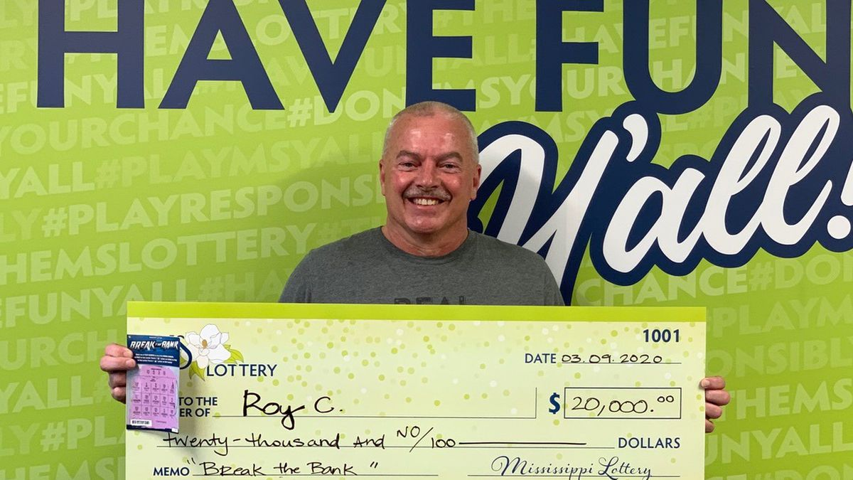 Roy C. won $20,000 from the Mississippi Lottery.