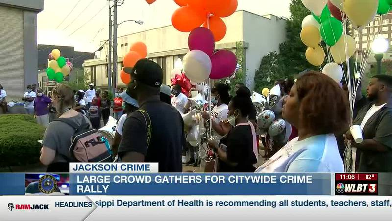 Large crowd comes out for City Wide Crime Rally, looking to put an end to the gun violence in...