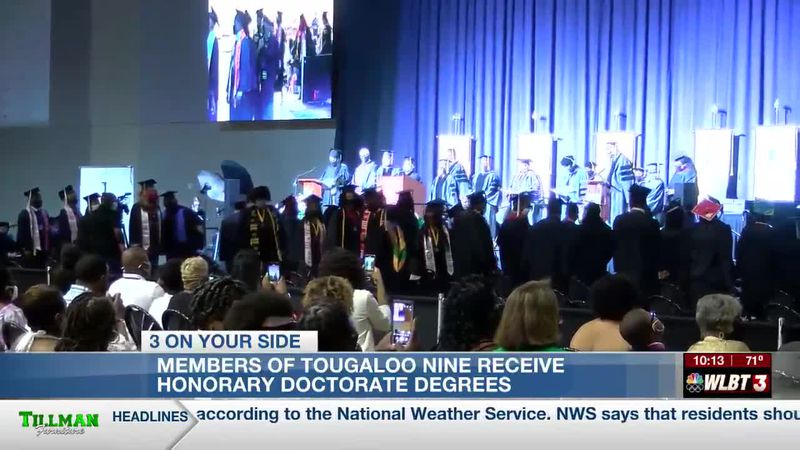 Tougaloo Nine receives honorary doctorate degrees from college