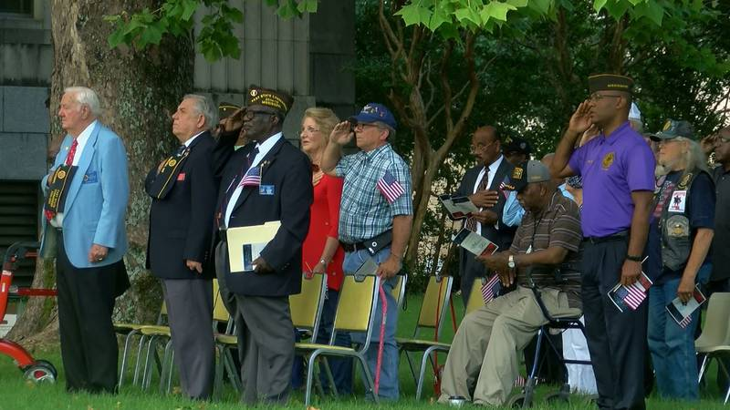 Memorial Day ceremony on the lawn of the Hinds County Courthouse (Source: WLBT)