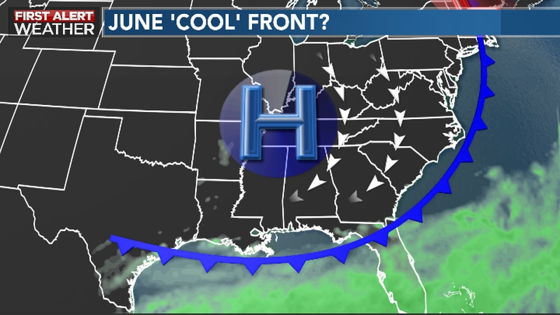 Drier Air Filters In Behind 'Cool' Front Mid-Week