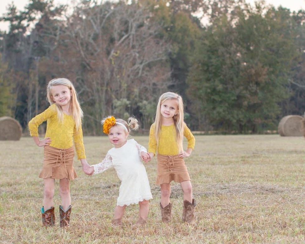 Addison, Kennedy and Cora could not wait to meet their newborn baby brother, so they gathered...