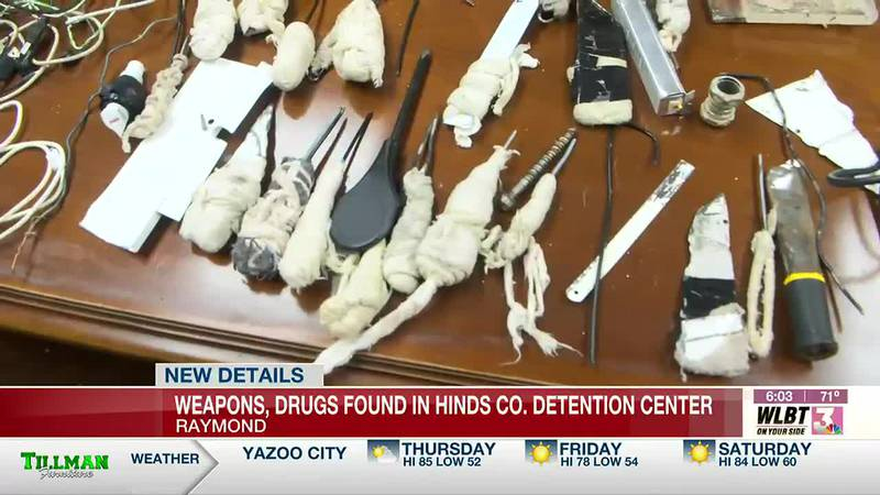 Shanks, drugs discovered during shakedown at Hinds County Detention Center