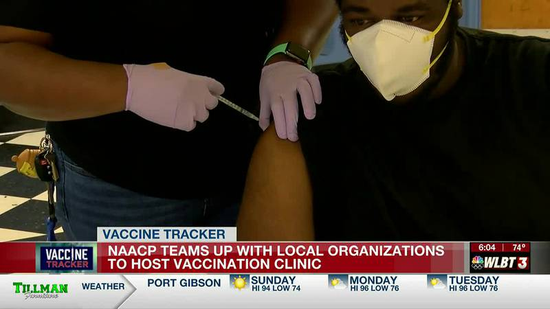 NAACP partners with local organizations to host Saturday vaccination clinic in Jackson