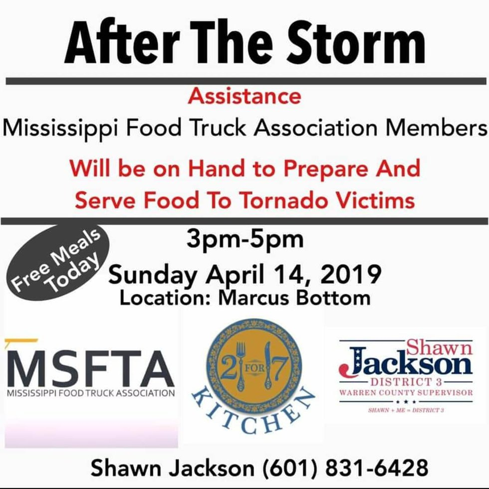 Jackson food truck heads to Vicksburg to feed tornado victims; Source: 2 for 7 Kitchen Food...