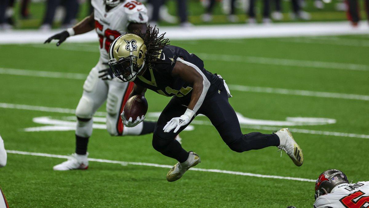 Sep 13, 2020; New Orleans, Louisiana, USA; New Orleans Saints running back Alvin Kamara (41)...