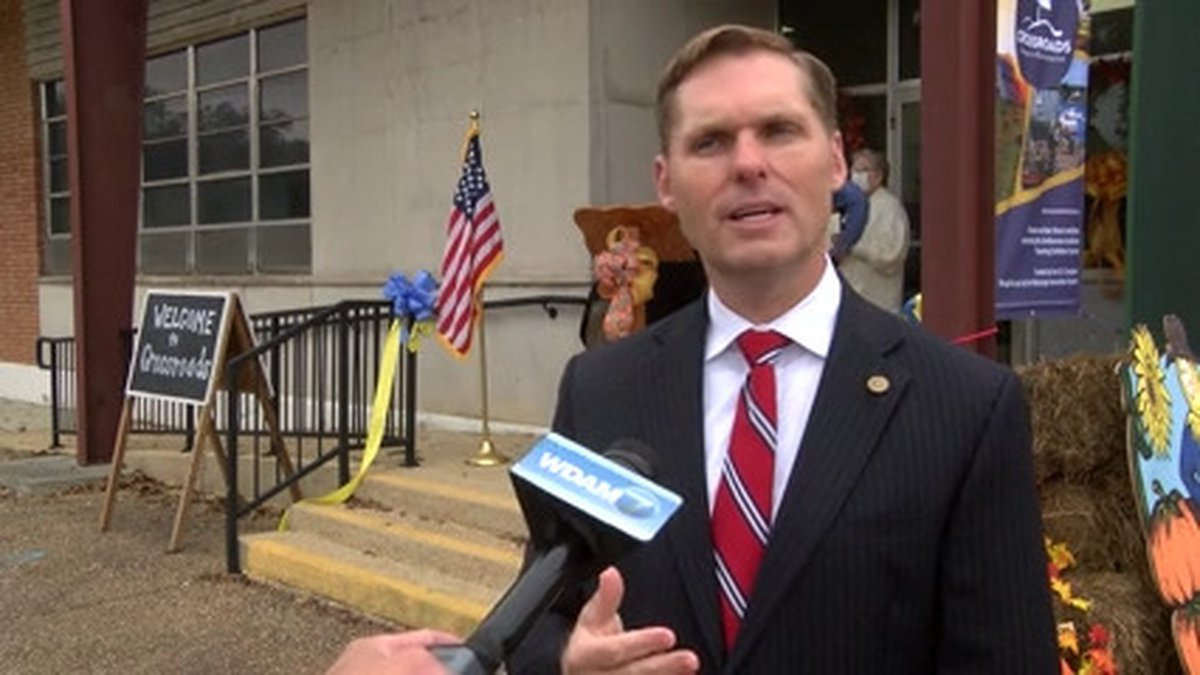 U.S. Rep. Michael Guest was in Mount Olive Friday for the opening of a traveling Smithsonian...