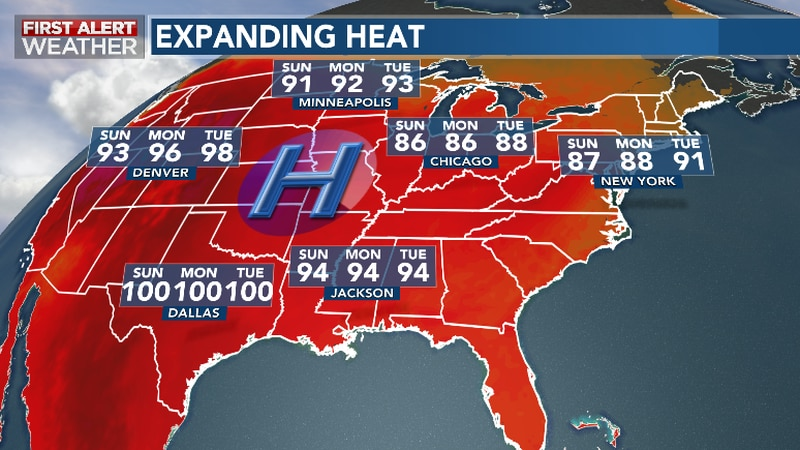 Searing Summer Heat Expands