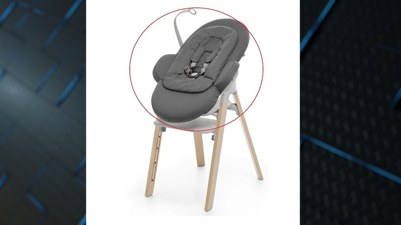 Stokke recalled about 5,400 of its bouncers sold as a connectable part of an all-in-one modular...