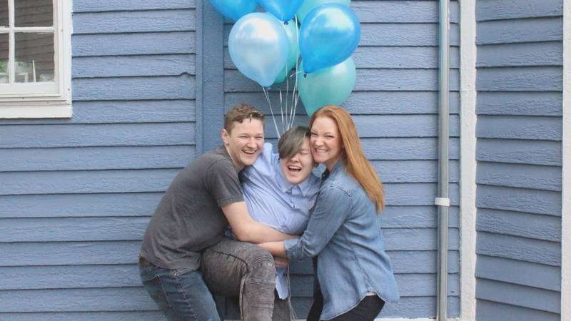 """The family got together for a """"It's a Boy"""" photo shoot after Adrian came out."""