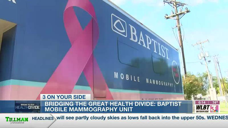 Baptist's mobile mammogram unit provides access to convenient breast cancer screenings