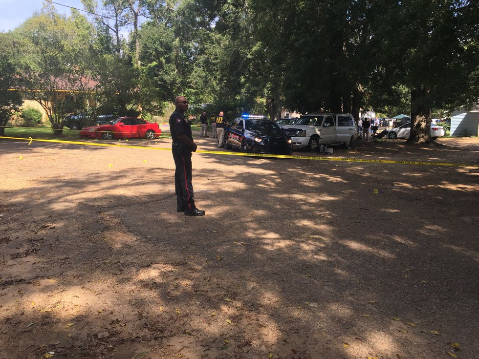Two Brookhaven officers were shot and killed while responding to a call of shots fired at a...