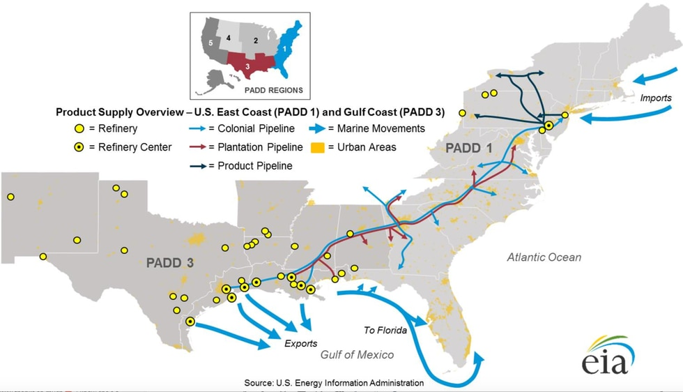 The Colonial Pipeline typically supplies about 30 percent of the state's gasoline. However,...