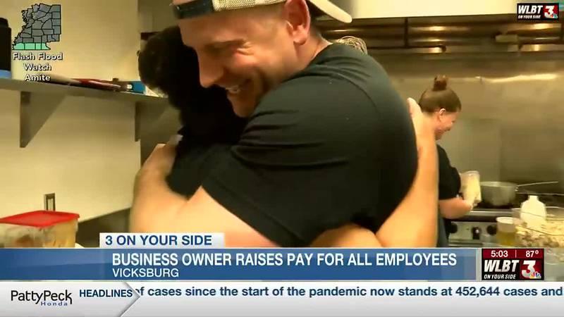 Vicksburg restaurant owner raises minimum wage to thank hard-working staff