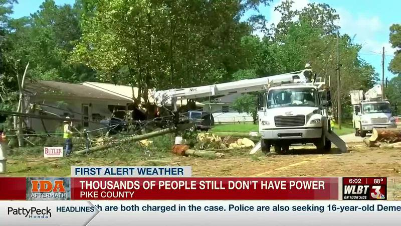 In Pike County, officials warn that power could remain off for days - or even weeks