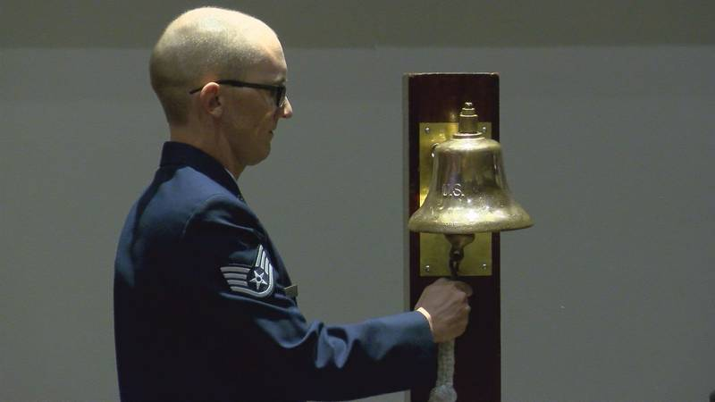 The bell rang 80 times for the names remembered at Thursday's service.