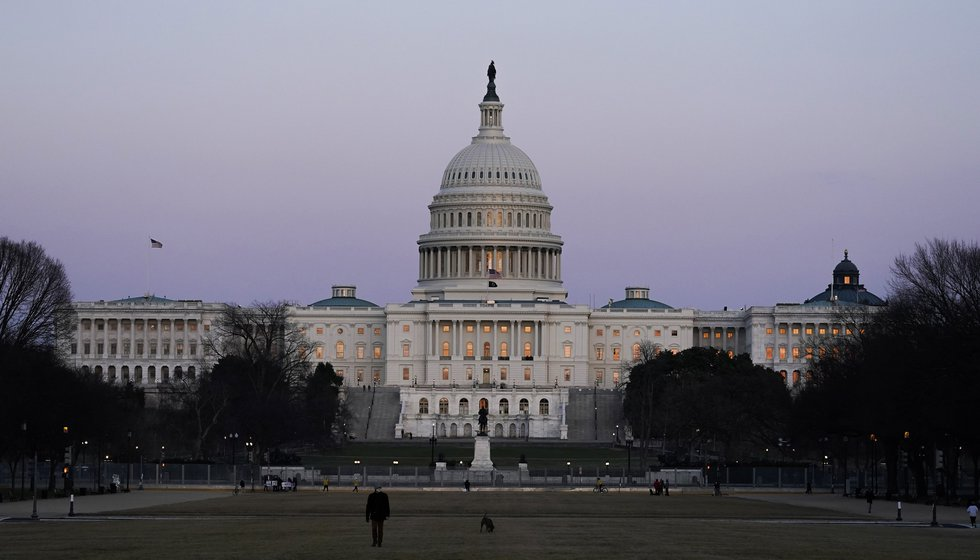 FILE - The U.S. Capitol building is shown after sunset Thursday, March 4, 2021, in Washington....