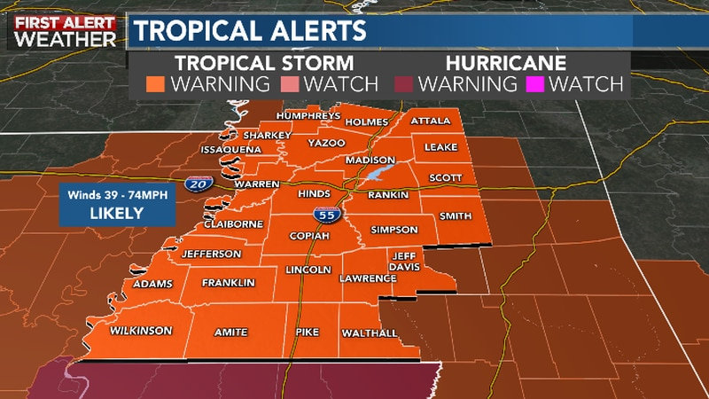 Alert Day on Monday for Ida Impacts