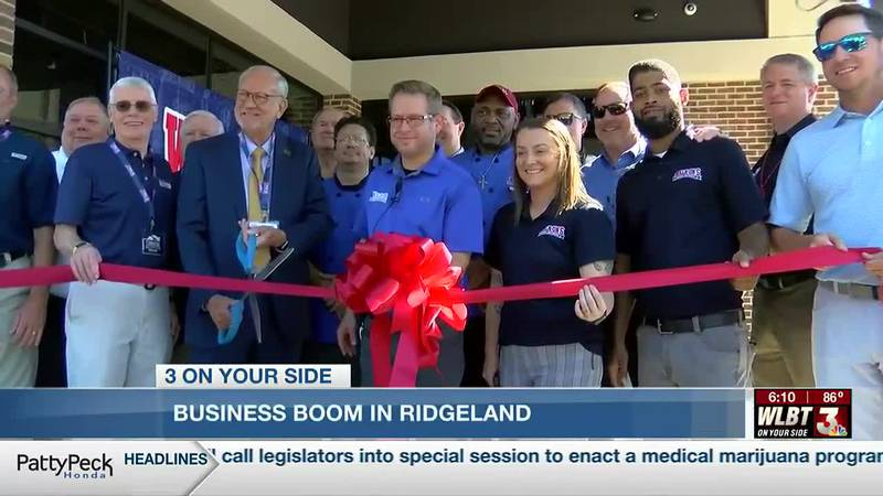 The City of Ridgeland is experiencing a business boom