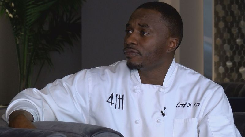 Kenneth Everett is the head chef at 4th Avenue Lounge, and he is also a fitness trainer....