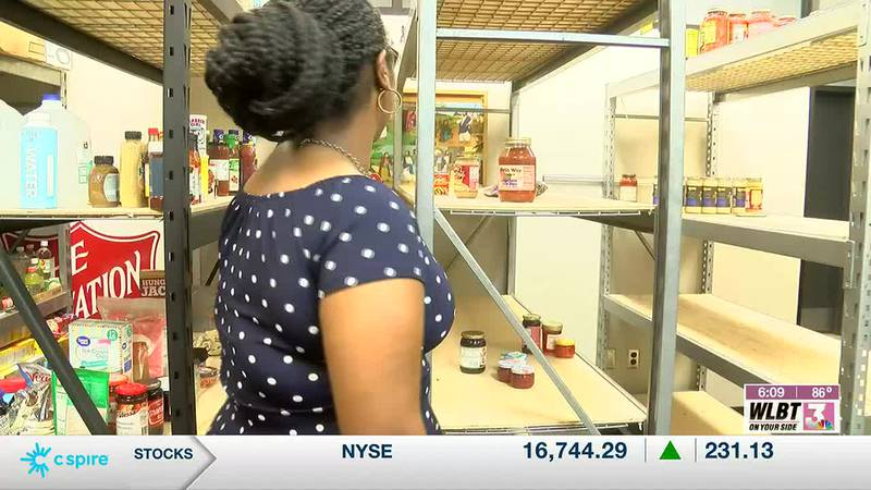 Salvation Army pantry shelves are bare, impacting the community's less fortunate