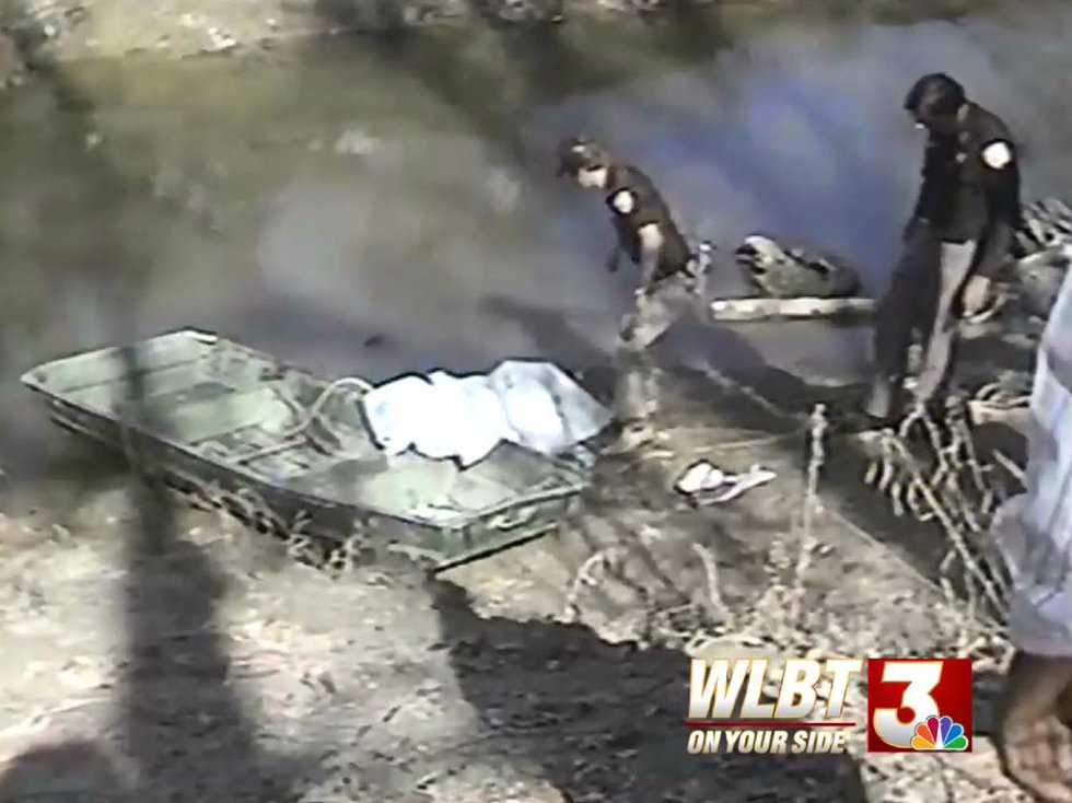 Recovery of May's body at Baker's Creek