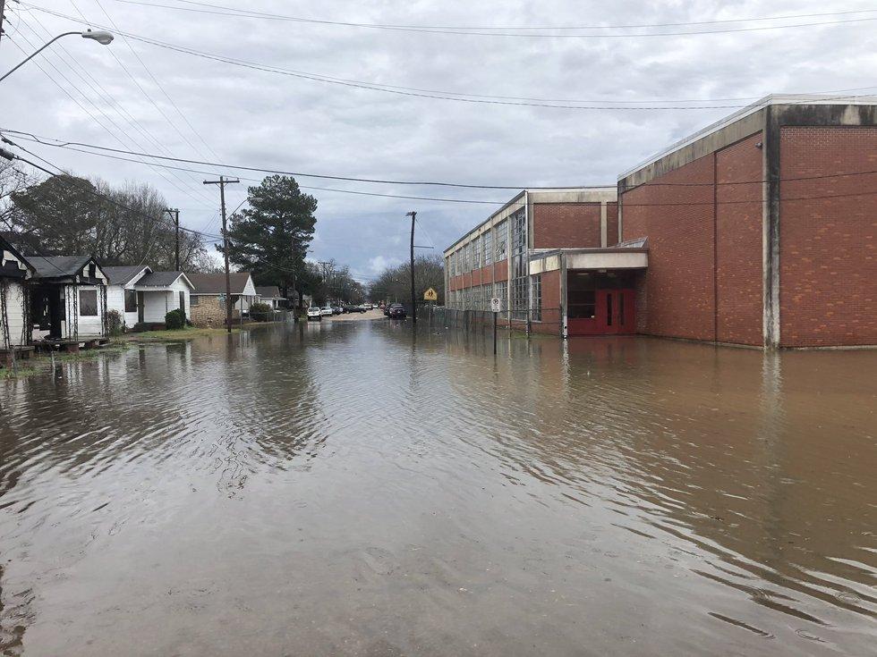Flooding at Jim Hill High School
