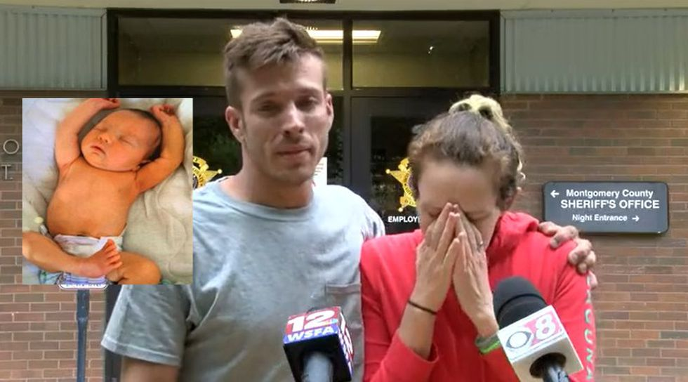 Caleb Whisnand Sr. and Angela Gardner ask the public for help finding their baby, Caleb Jr.,...