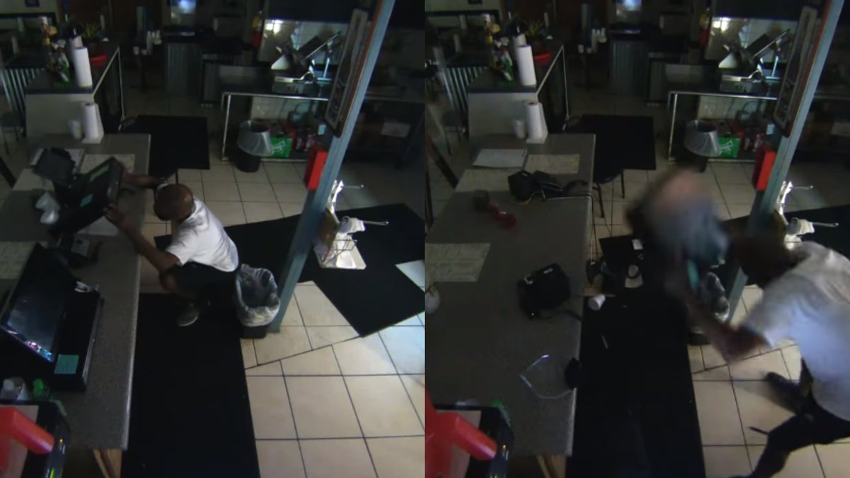 A man was caught on camera damaging property inside Quave Brothers Po'Boys & Meat Market in...