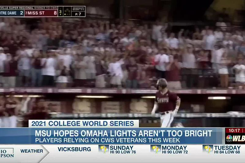 WLBT Sports Director Trey Mongrue is live from Omaha. MSU takes on Texas tomorrow at 6!